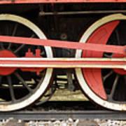 Old Steam Locomotive Iron Rusty Wheels Art Print