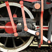 Old Steam Locomotive Wheels Art Print