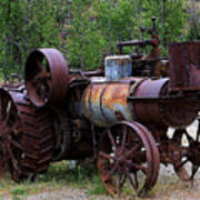 Old Steam Tractor Art Print