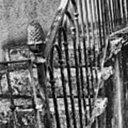 Old Steps And Railings Art Print