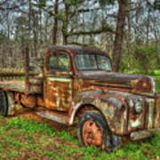 Old Still Art 1947 Ford Stakebed Pickup Truck Ar Art Print