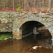 Old Stone Bridge In Illinois 1 Art Print