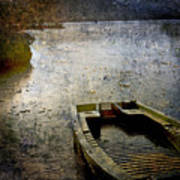 Old Sunken Boat. Art Print by Bernard Jaubert