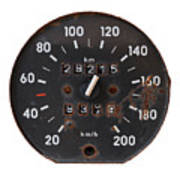 Old Tachometer Art Print