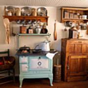 Old Time Farmhouse Kitchen Art Print by Carmen Del Valle