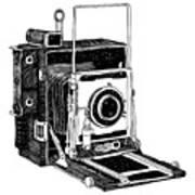 Old Timey Vintage Camera Print by Karl Addison