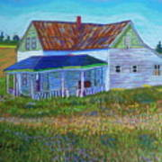 Old Tin Roof Art Print