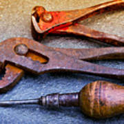 Old Tools Art Print