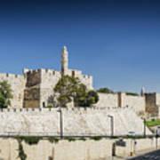 Old Town Citadel Walls Of Jerusalem Israel Art Print