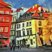Old Town In Warsaw # 27 Art Print