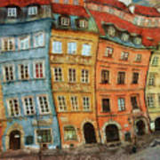 Old Town In Warsaw # 32 Art Print