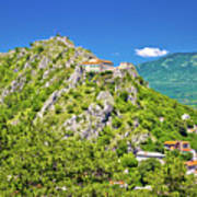 Old Town Knin On The Rock View Art Print