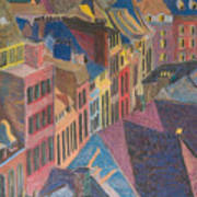 Old Town Art Print by Lucinda  Hansen