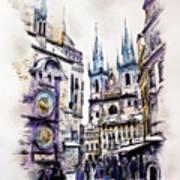 Old Town Square In Prague Art Print