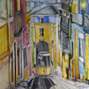 Old Town Streets Art Print