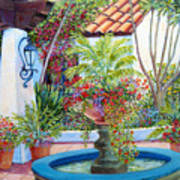 Old Town Water Fountain Art Print