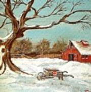 Old Tree And Barn Art Print
