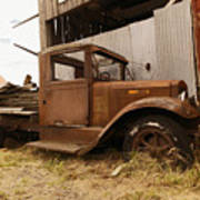 Old Truck In Old Forgotten Places Art Print