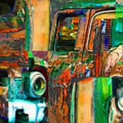 Old Trucks Art Print