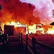 Old Tucson Arizona In Flames 1995  Art Print