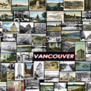Old Vancouver Collage Art Print