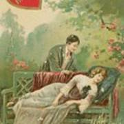 Old Victorian Era Valentine Card Art Print
