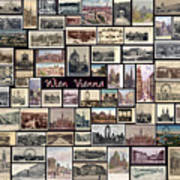 Old Vienna Collage Art Print