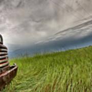 Old Vintage Truck On The Prairie Art Print