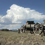 Old Wagon Out West Art Print by Jerry McElroy