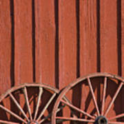 Old Wagon Wheels IIi Art Print