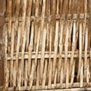 Old Wall Made From Bamboo Slats Art Print