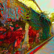 Old Wall Of The Ancient City Art Print