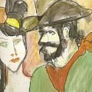 Old West Couple Art Print