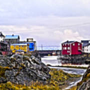 Old Whaling Village Nyksund Art Print