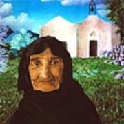 Old Woman Of Kritsa Art Print