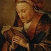 Old Woman Praying Art Print