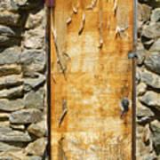 Old Wood Door And Stone - Vertical  Art Print
