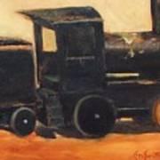 Old wood toy train  Art Print