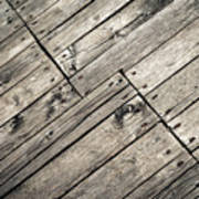 Old Wooden Boards Nailed Art Print