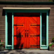 Old Wooden Doors Art Print