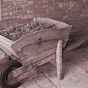Old Wooden Wheelbarrow Art Print