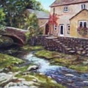 Old World Cottage Art Print