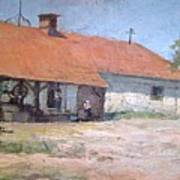 Old  World Slovenian Farmhouse Art Print