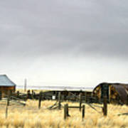 Old Wyoming Farm Art Print