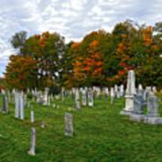 Old Yard Cemetery Stowe Vermont Art Print