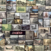 Old Zagreb Collage Print by Janos Kovac