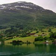 Olden Fjord, Norway Art Print