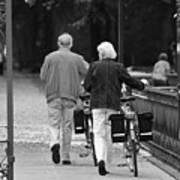 Older Couple In The Park Art Print