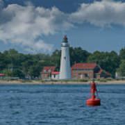 Oldest Lighthouse In Michigan Art Print