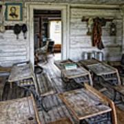 Oldest School House C. 1863 - Montana Territory Art Print by Daniel Hagerman
